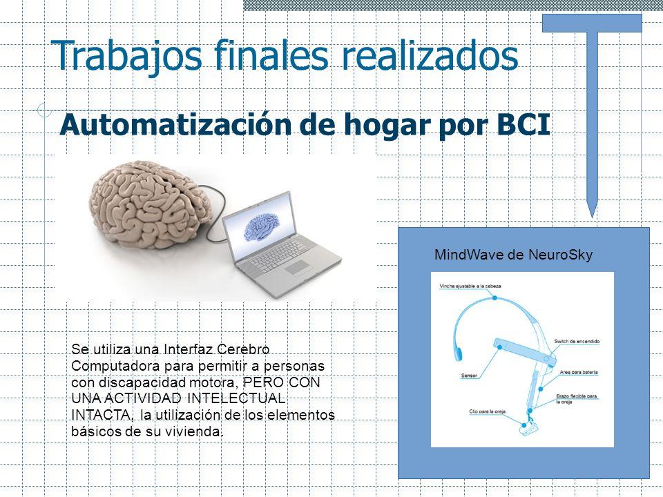 Automatización de hogar por BCI Se utiliza una Interfaz Cerebro Computadora para permitir a personas con discapacidad motora, PERO CON UNA ACTIVIDAD I