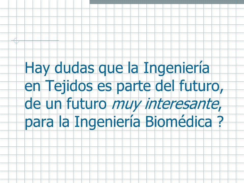 Hay dudas que la Ingeniería en Tejidos es parte del futuro, de un futuro muy interesante, para la Ingeniería Biomédica ?