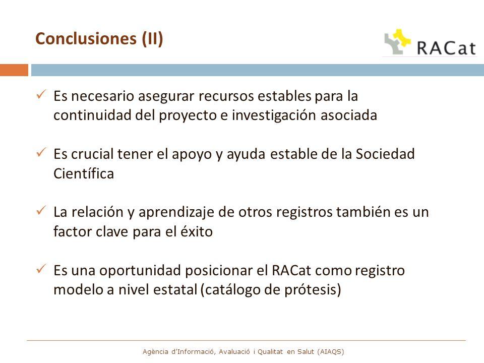 Conclusiones (II) Es necesario asegurar recursos estables para la continuidad del proyecto e investigación asociada Es crucial tener el apoyo y ayuda