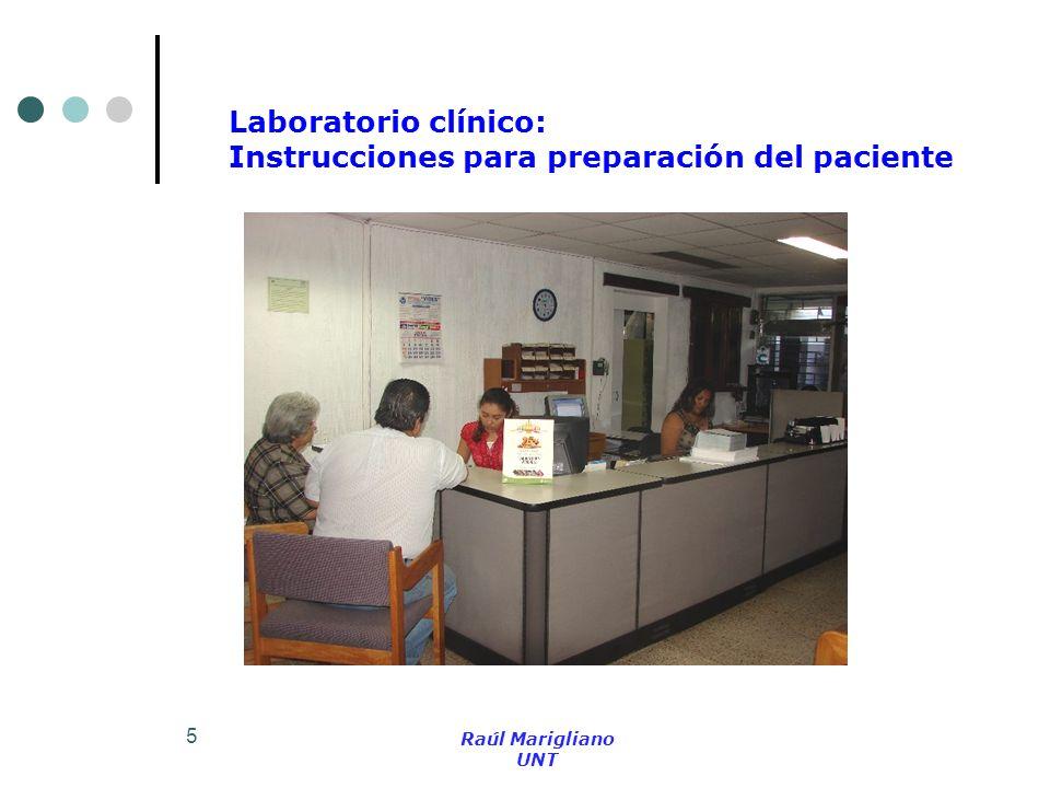 5 Laboratorio clínico: Instrucciones para preparación del paciente Raúl Marigliano UNT