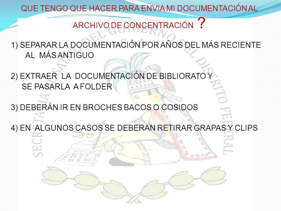 LOS EXPEDIENTES DE ARCHIVO DEBERÁN INTEGRARSE Y OBRAR EN EXPEDIENTES (CONSTITUIDOS POR UNO O VARIOS DOCUMENTOS DE ARCHIVO).