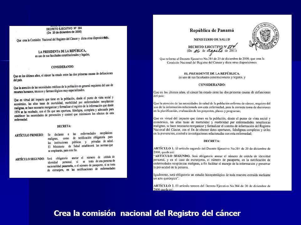 Crea la comisión nacional del Registro del cáncer