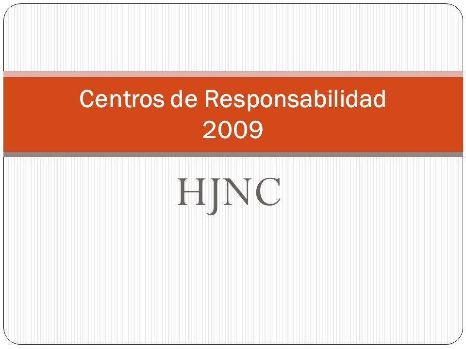 HJNC Centros de Responsabilidad 2009