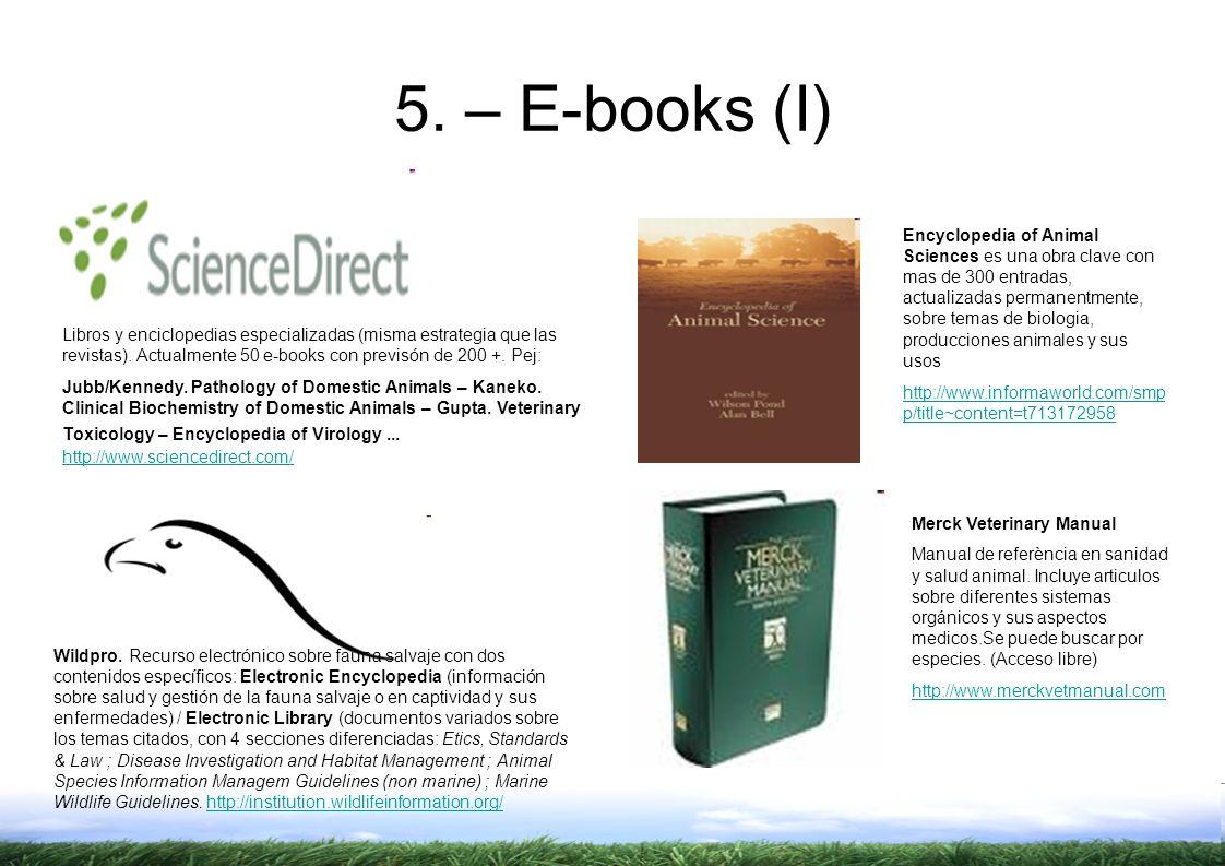 Libros y enciclopedias especializadas (misma estrategia que las revistas).