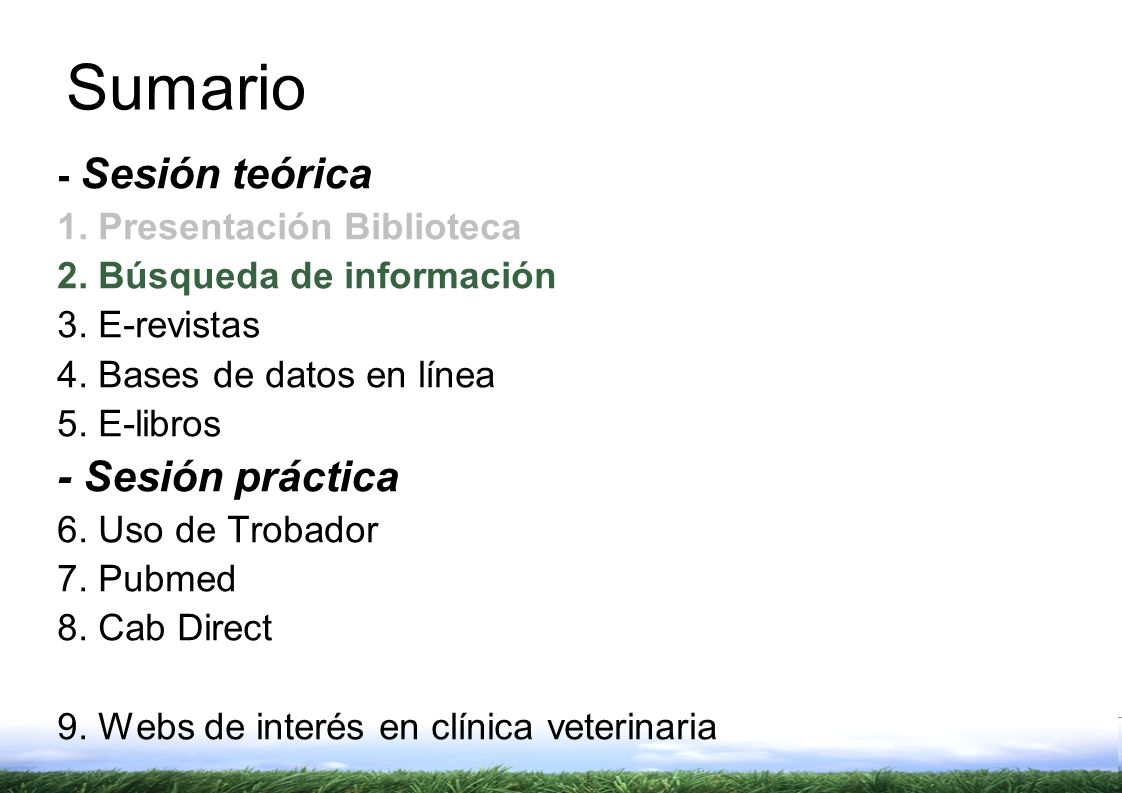 2. – Búsqueda Información - Web http://www.uab.cat/bib/