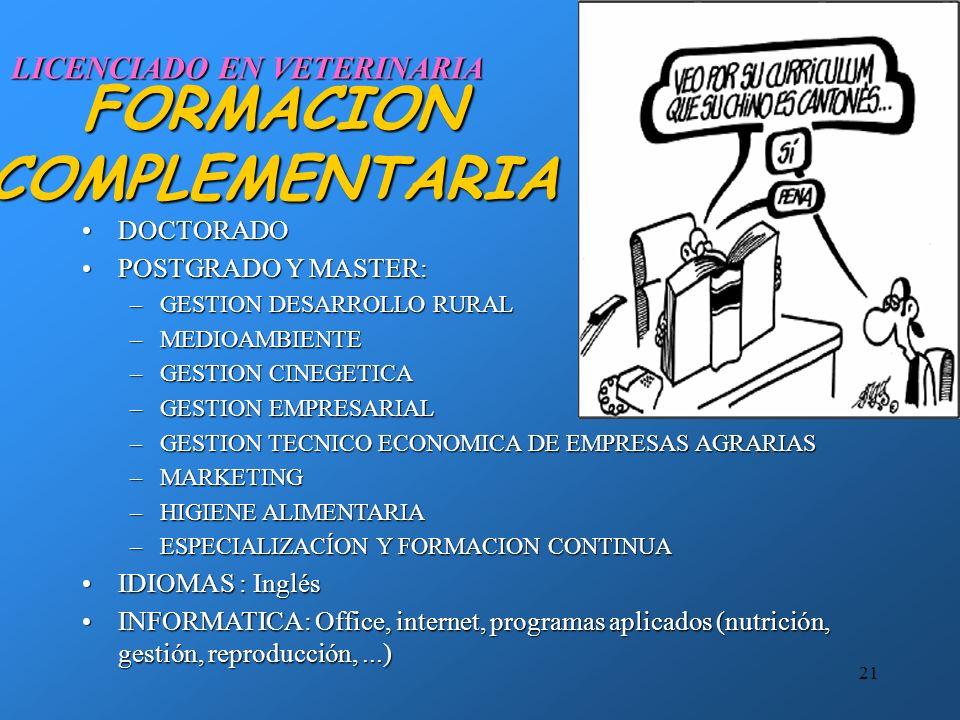 20 RESUMEN: LA OFERTA DE NUEVOS PROFESIONALES SOBREDIMENSIONADA La oferta de nuevos profesionales veterinarios en España supera la de otros países eur