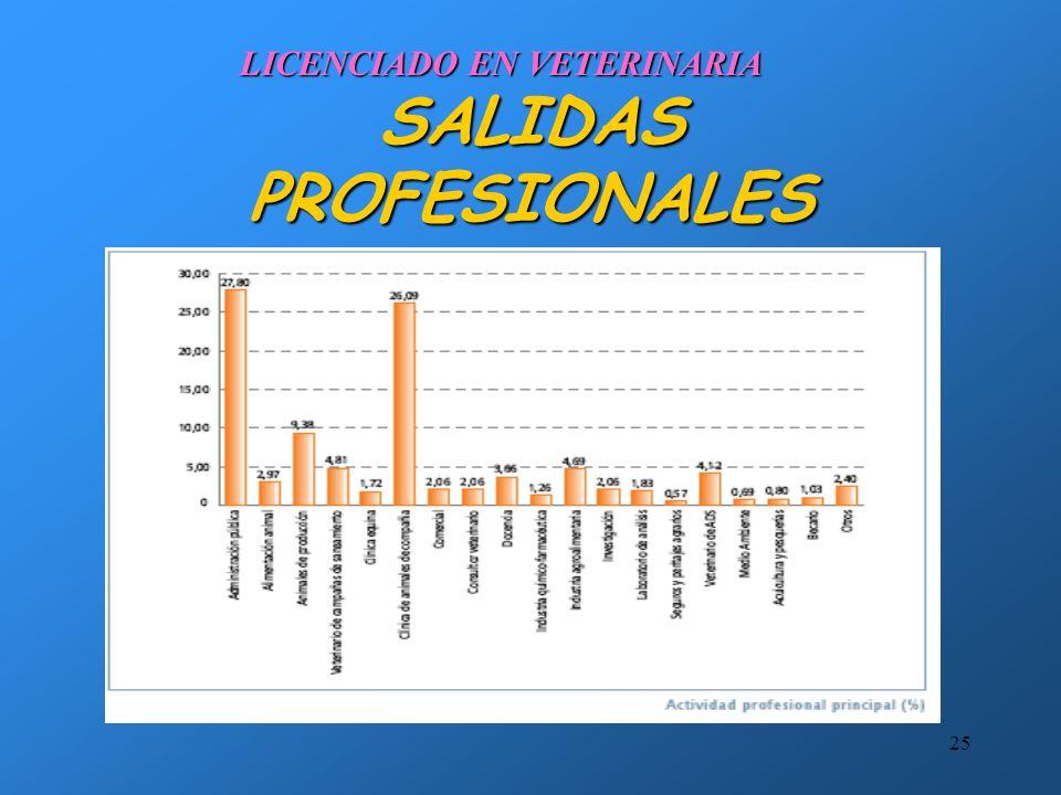 24 ALGUNOS RASGOS COMUNES DEL EJERCICIO DE LA PROFESIÓN VOCACIONAL El acceso y la práctica de la profesión veterinaria requieren algunos sacrificios i