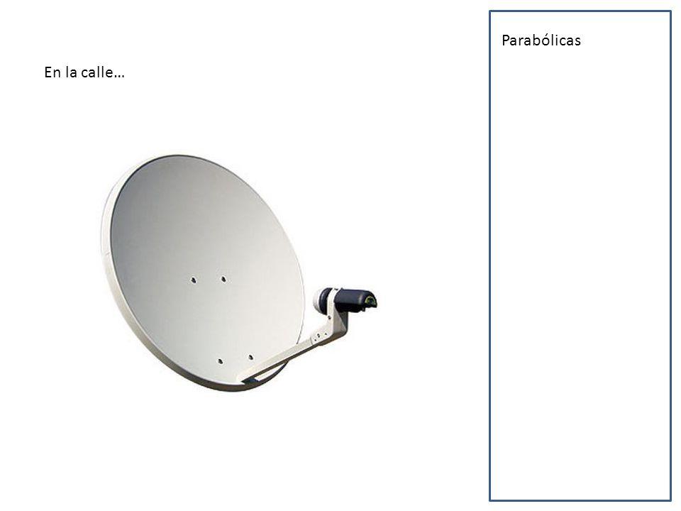 En la calle… Parabólicas Cámaras Cajeros automáticos Radares Semáforos modernos GPS Sillas minusválidos Antenas de telefonía Tecnología clínica Iluminación y sonido digitales Pantallas Portero automático Cibercafés
