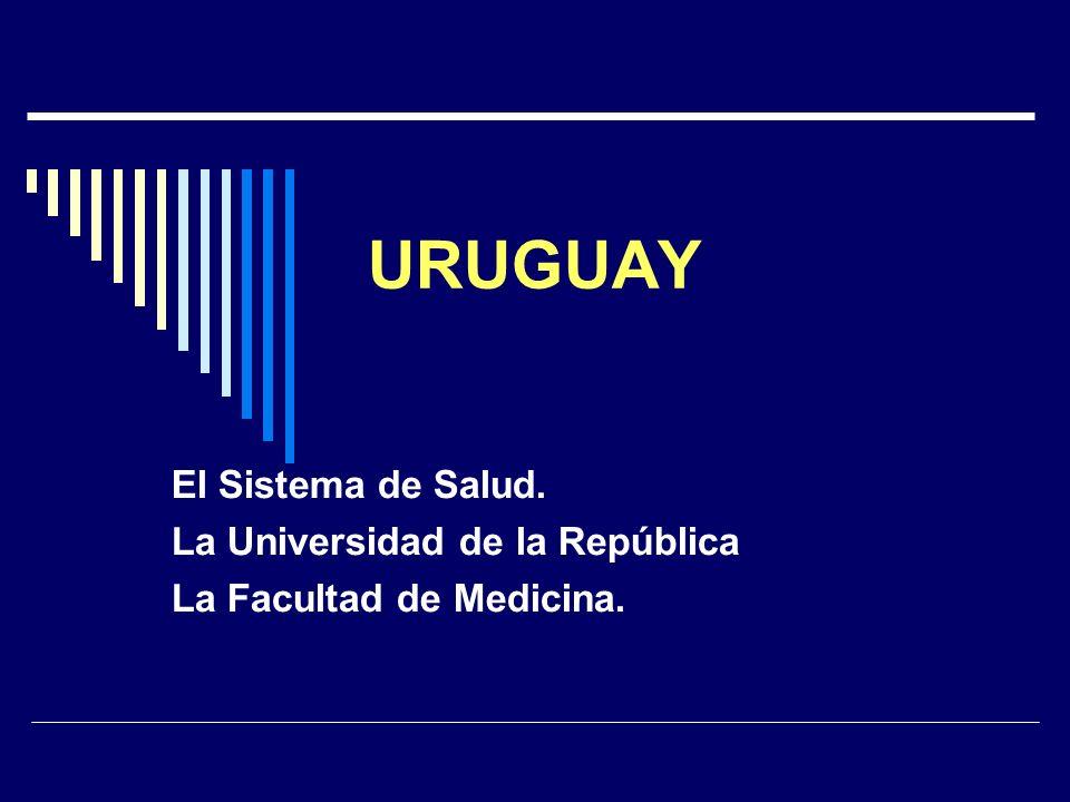 URUGUAY El Sistema de Salud. La Universidad de la República La Facultad de Medicina.