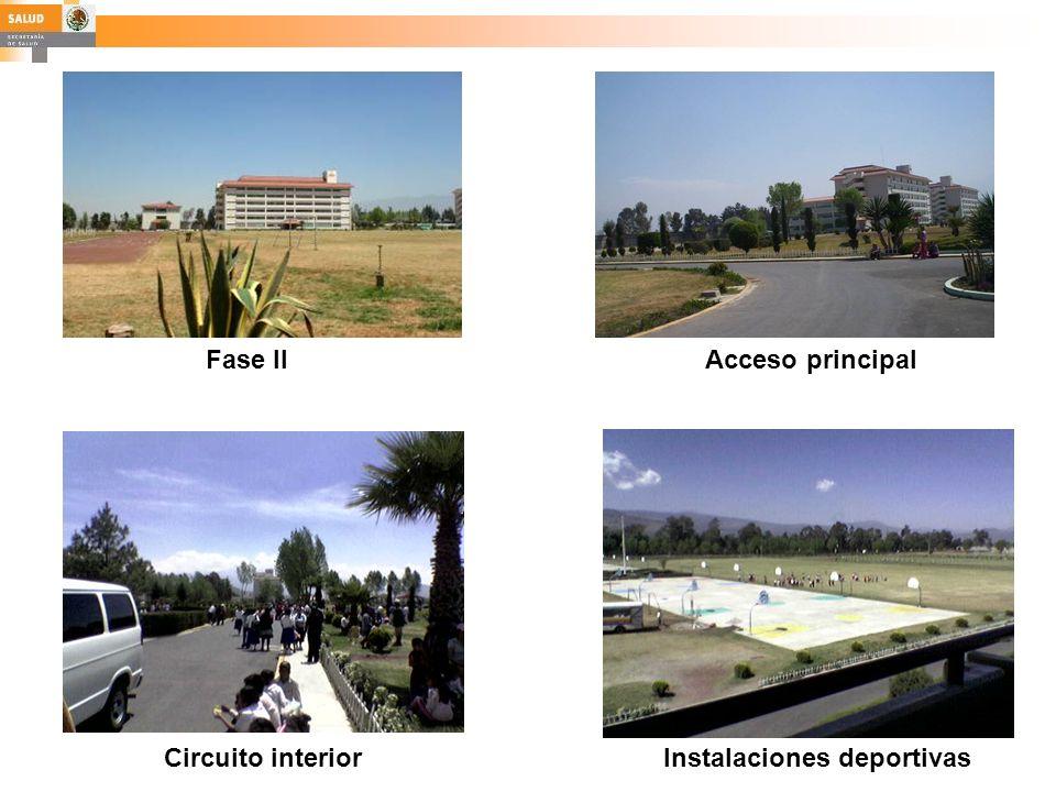 Fase IIAcceso principal Circuito interiorInstalaciones deportivas