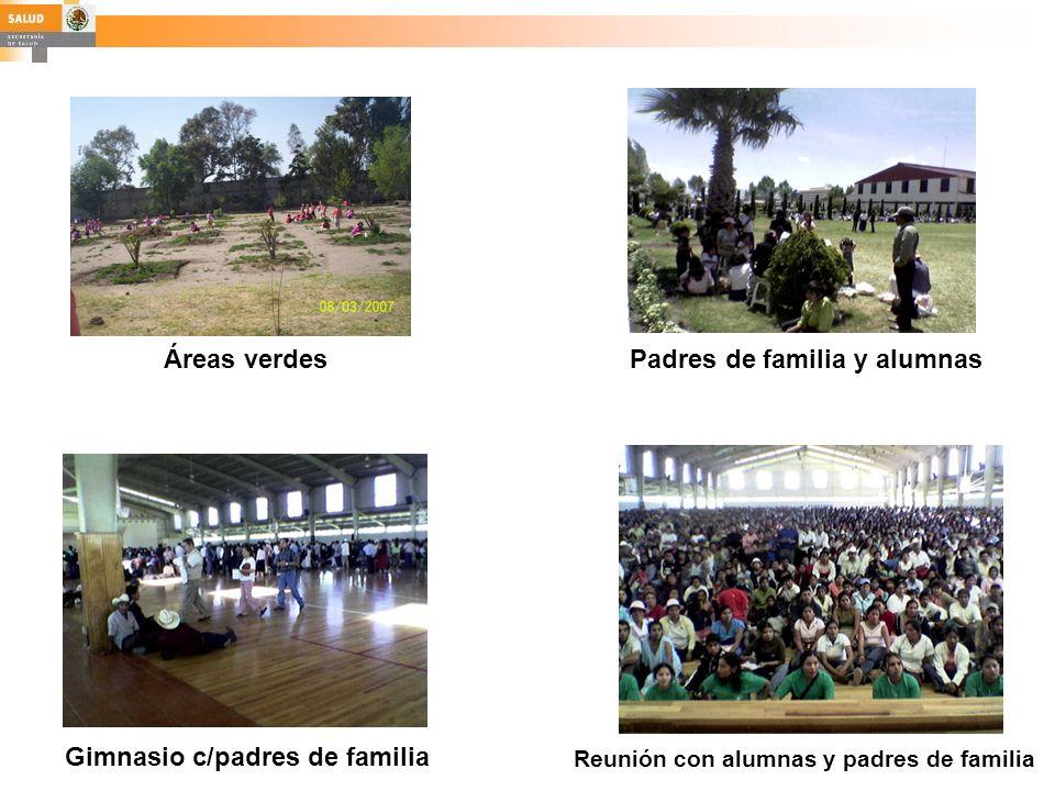 Áreas verdesPadres de familia y alumnas Gimnasio c/padres de familia Reunión con alumnas y padres de familia