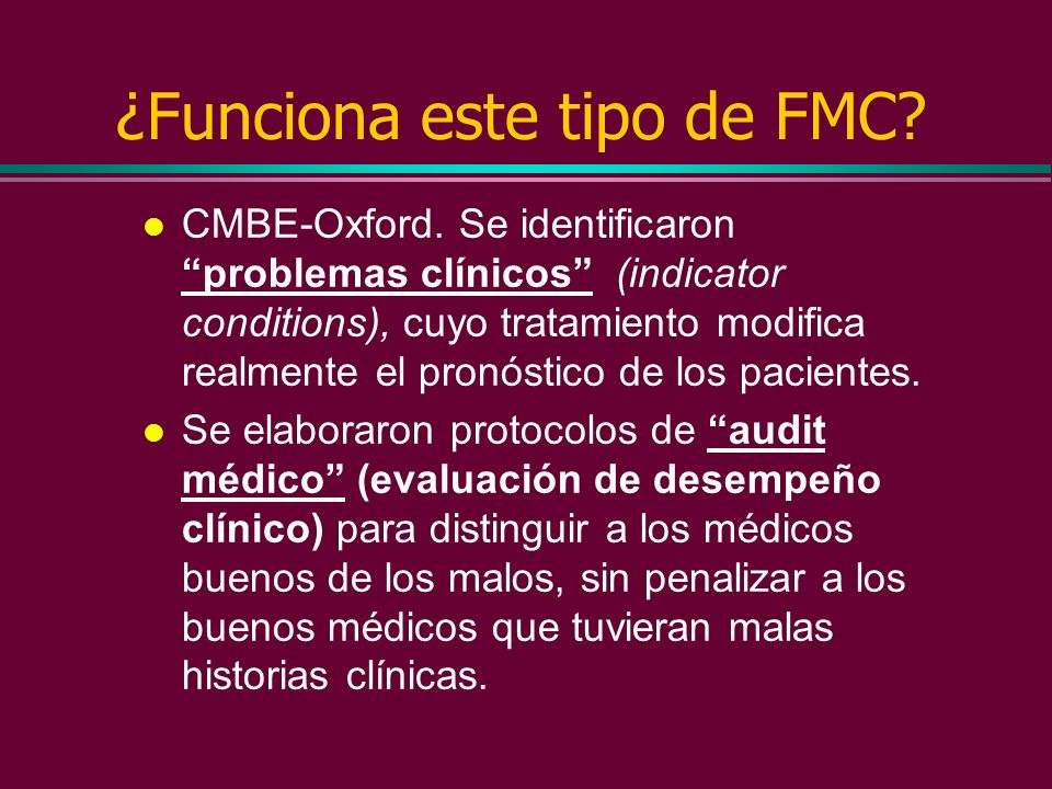 Formación Médica Continuada La formación Médica Continuada insertada en el mercado de formación médica de postgrado no ha mostrado como resultado una