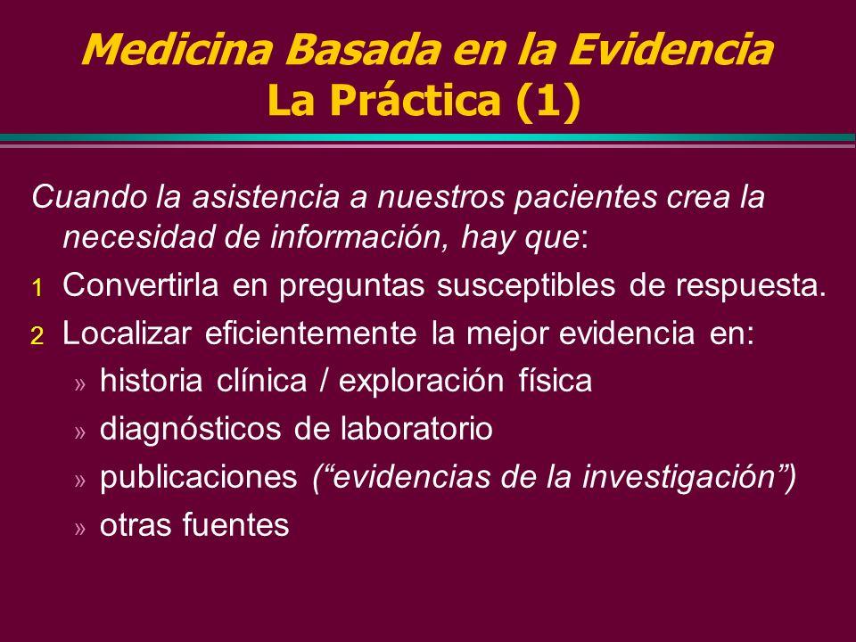 Clasificación de las Recomendaciones (Canadian Task Foce for preventive health care) A Hay buena evidencia para recomendar la acción clinica preventiv