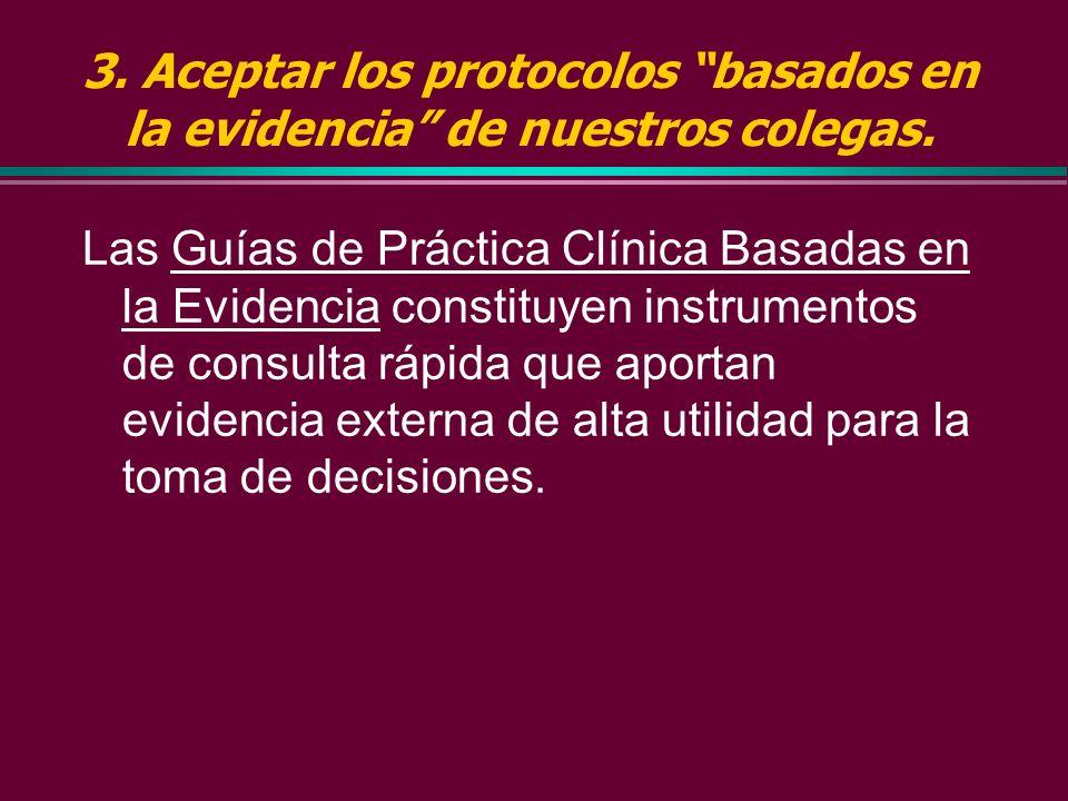 2. Buscar y aplicar MBE generada por otros b En revistas de publicación secundaria basadas en la evidencia que: » rastrean docenas de revistas clínica