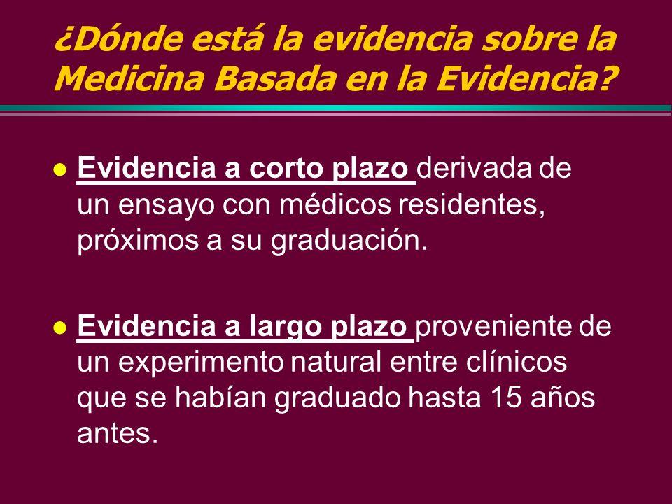3. Aceptar los protocolos basados en la evidencia de nuestros colegas. Las Guías de Práctica Clínica Basadas en la Evidencia constituyen instrumentos