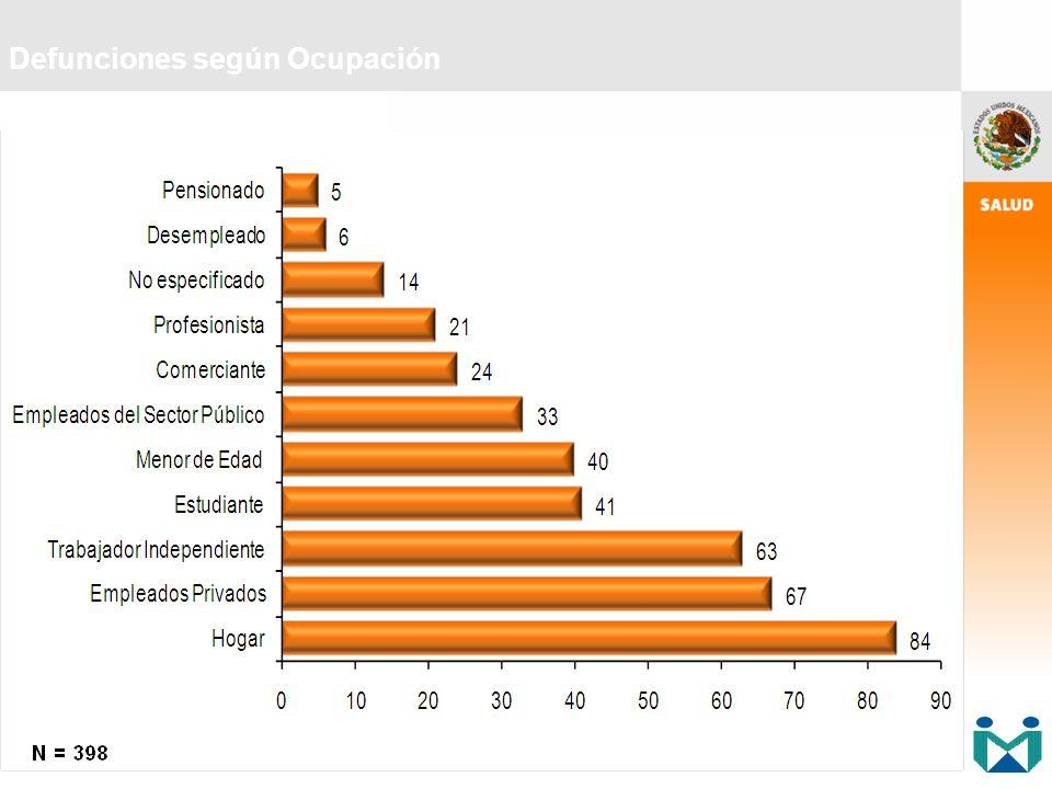 Defunciones según Ocupación