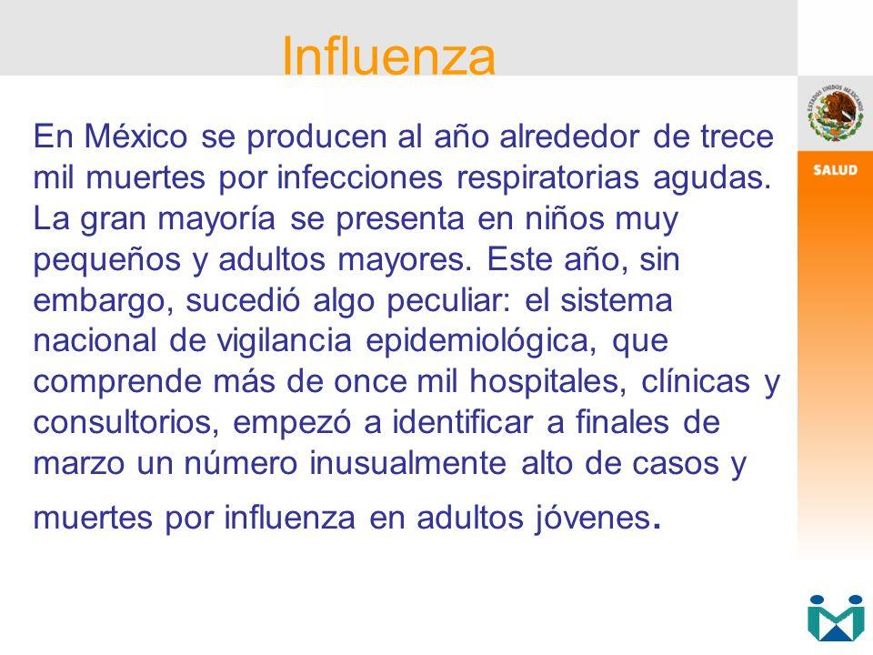 En México se producen al año alrededor de trece mil muertes por infecciones respiratorias agudas. La gran mayoría se presenta en niños muy pequeños y