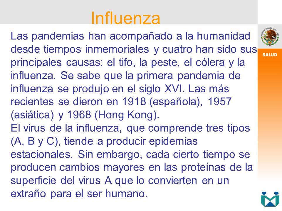 Las pandemias han acompañado a la humanidad desde tiempos inmemoriales y cuatro han sido sus principales causas: el tifo, la peste, el cólera y la inf