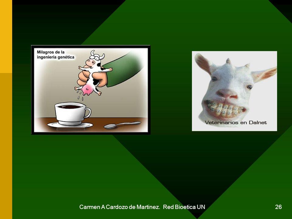 Carmen A Cardozo de Martinez. Red Bioetica UN 26