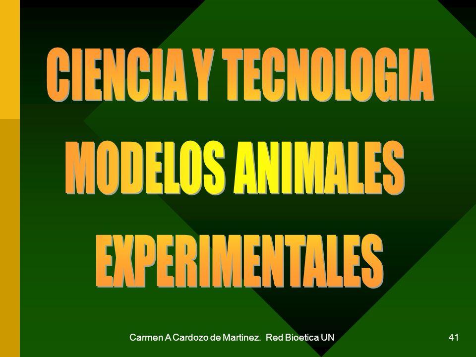 Carmen A Cardozo de Martinez. Red Bioetica UN 41