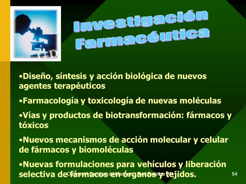 Carmen A Cardozo de Martinez. Red Bioetica UN 54 Diseño, síntesis y acción biológica de nuevos agentes terapéuticos Farmacología y toxicología de nuev