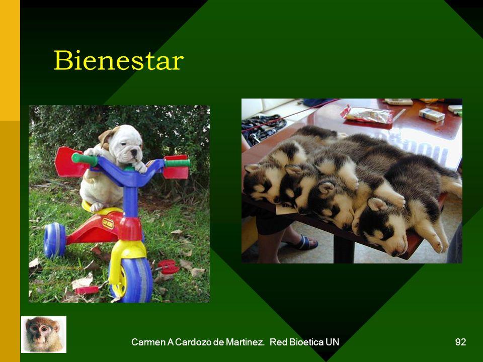 Carmen A Cardozo de Martinez. Red Bioetica UN 92 Bienestar