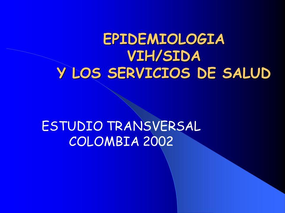 EPIDEMIOLOGIA VIH/SIDA Y LOS SERVICIOS DE SALUD ESTUDIO TRANSVERSAL COLOMBIA 2002