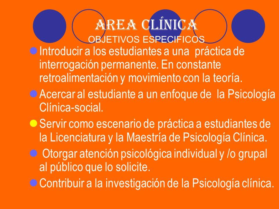 ACTIVIDADES DE LOS ESTUDIANTES EN EL AREA CLINICA Revisión bibliográfica.