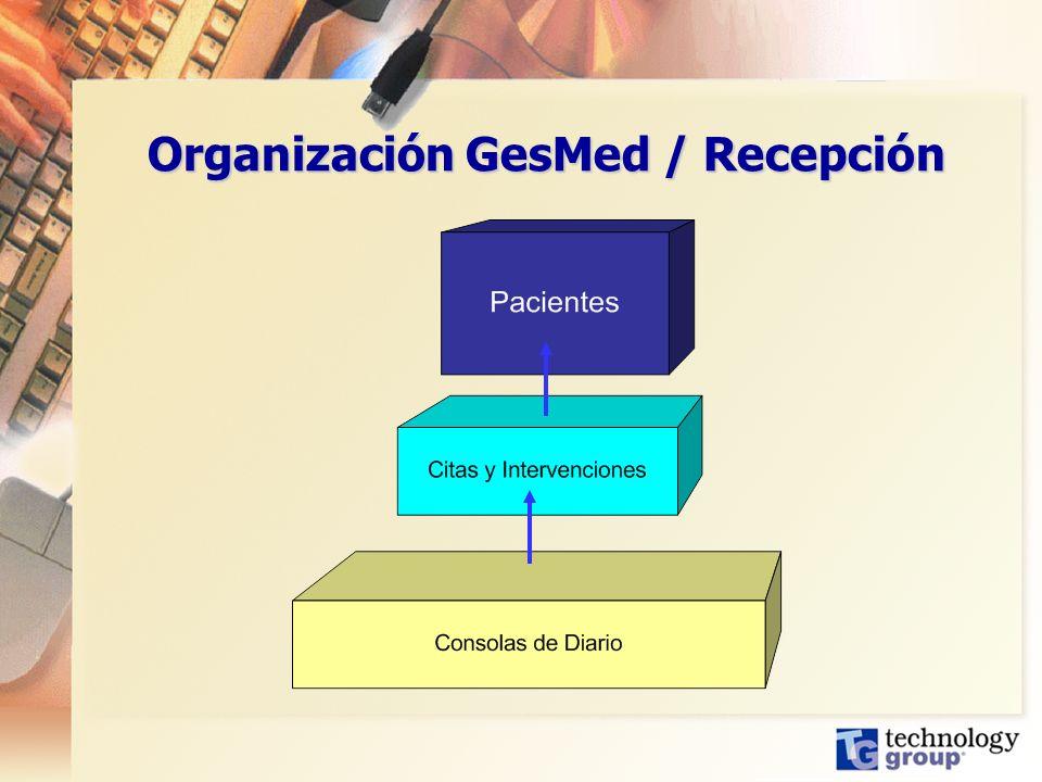 Organización GesMed / Recepción