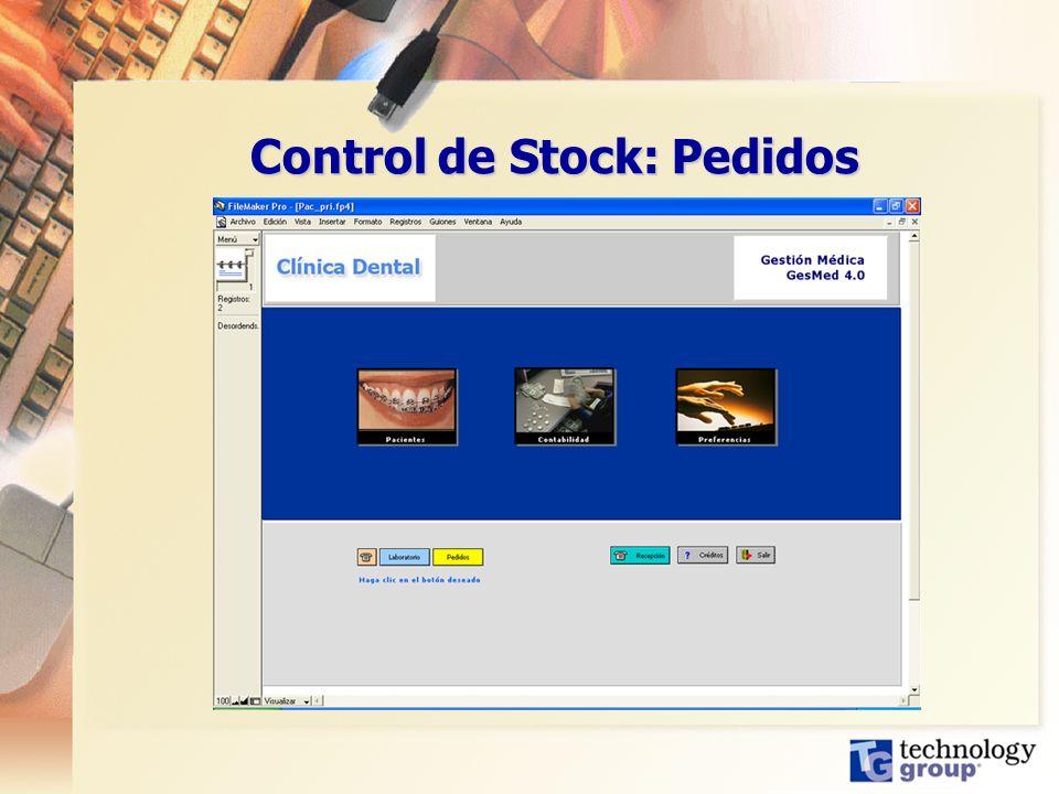 Control de Stock: Pedidos