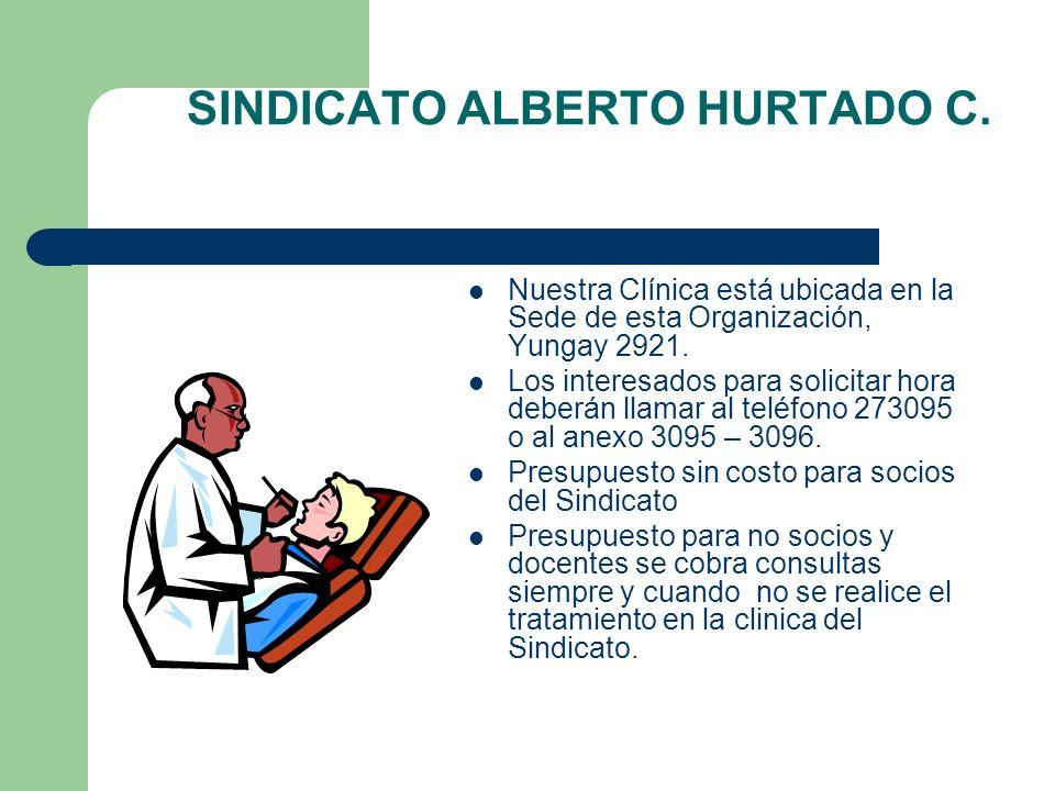 SINDICATO A.HURTADO C. Profesional: Dr. GUILLERMO CORREA CAMIROAGA.