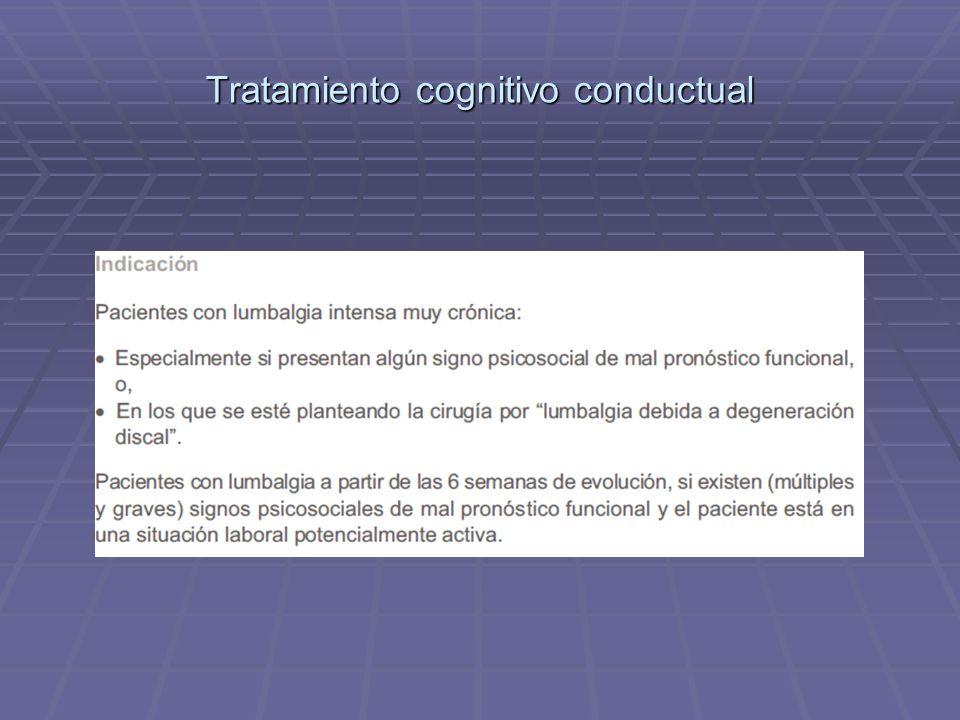 Tratamiento cognitivo conductual