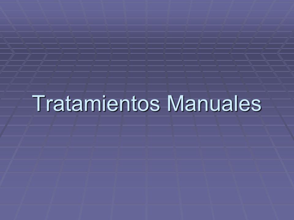 Tratamientos Manuales