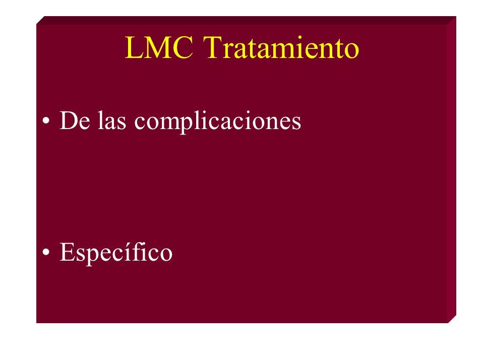 LMC Tratamiento De las complicaciones Específico