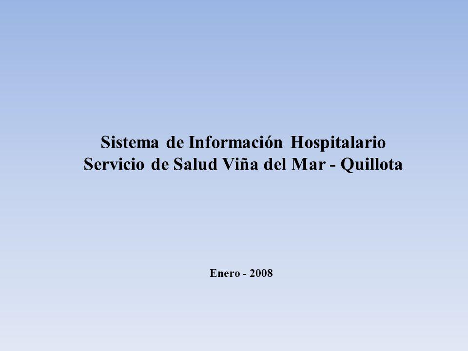 Sistema de Información Hospitalario Servicio de Salud Viña del Mar - Quillota Enero - 2008