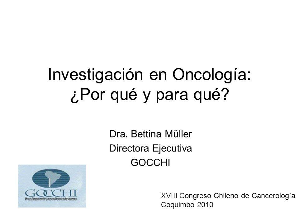 Investigación en Oncología: ¿Por qué y para qué.Dra.