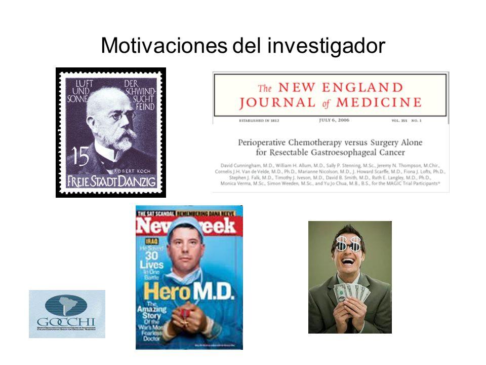 Motivaciones del investigador