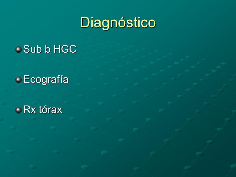 Diagnóstico Sub b HGC Ecografía Rx tórax