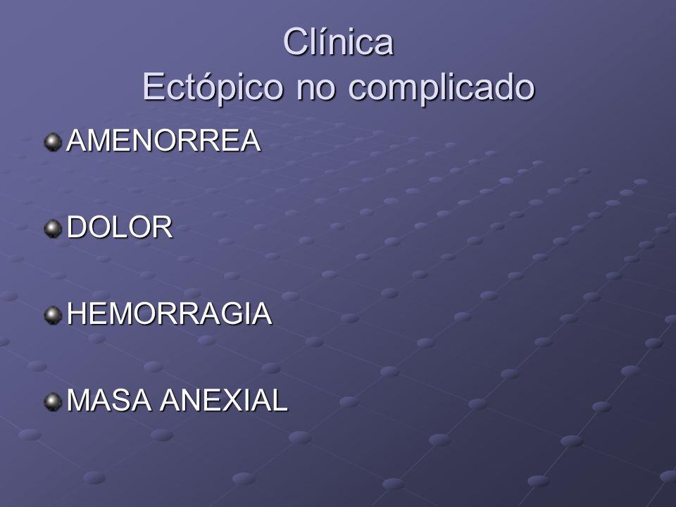 Hemorragias de la Primera Mitad del Embarazo Sangrado Dolor Síntomas Signos HGC Aborto Roja rutilante cólico Tamaño uterino = amenorrea modif.