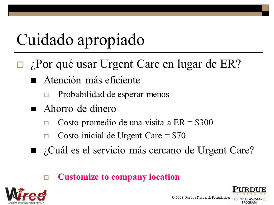 Cuidado apropiado ¿Por qué usar Urgent Care en lugar de ER.