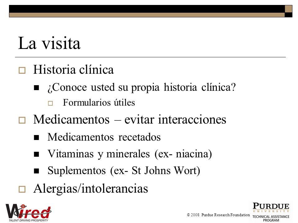 La visita Historia clínica ¿Conoce usted su propia historia clínica.