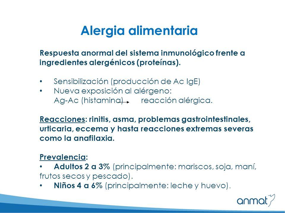 Sulfitos: reacciones idiosincráticas (intervienen varios mecanismos) Ciertos colorantes: Liberación de mediadores químicos, algunos = de reacción alérgica (Ej.