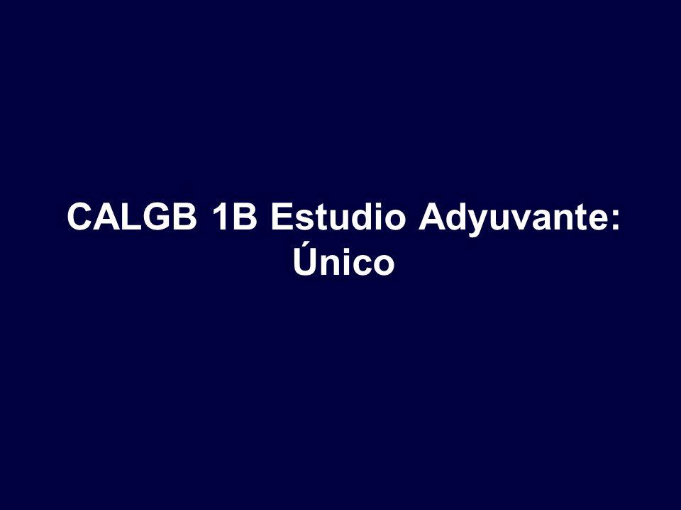 CALGB 1B Estudio Adyuvante: Único