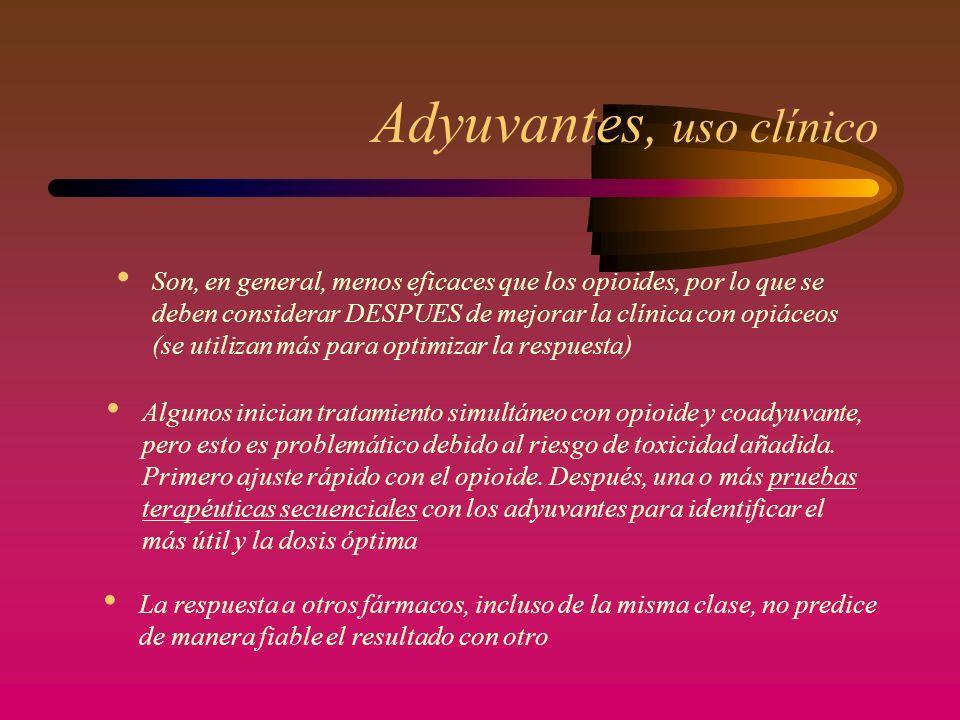 ANALGÉSICOS ADYUVANTES CORTICOIDES AINES ANTIDEPRESIVOS TRICÍCLICOS ANTICONVULSIVANTES ANESTÉSICOS LOCALES BIFOSFONATOS