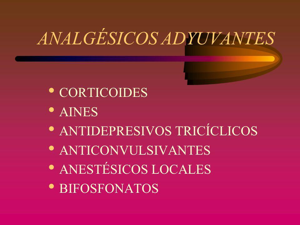 ANTIDEPRESIVOS TRICICLICOS AMITRIPTILINA INDICACIÓN: dolor neuropático (tipo disestésico) DOSIS INICIAL: Amitriptilina o Desipramina 10-25 mg al acostarse, vo.