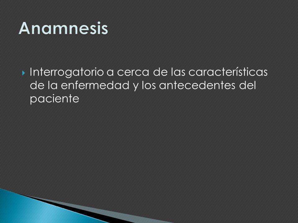 Está constituido por los datos positivos de la anamnesis y del examen físico.