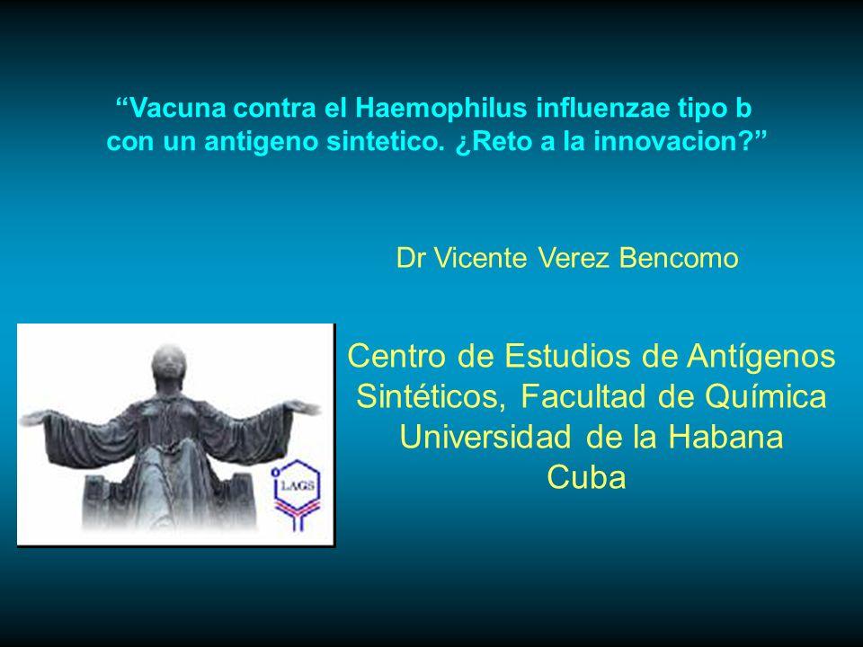 Vacuna contra el Haemophilus influenzae tipo b con un antigeno sintetico.