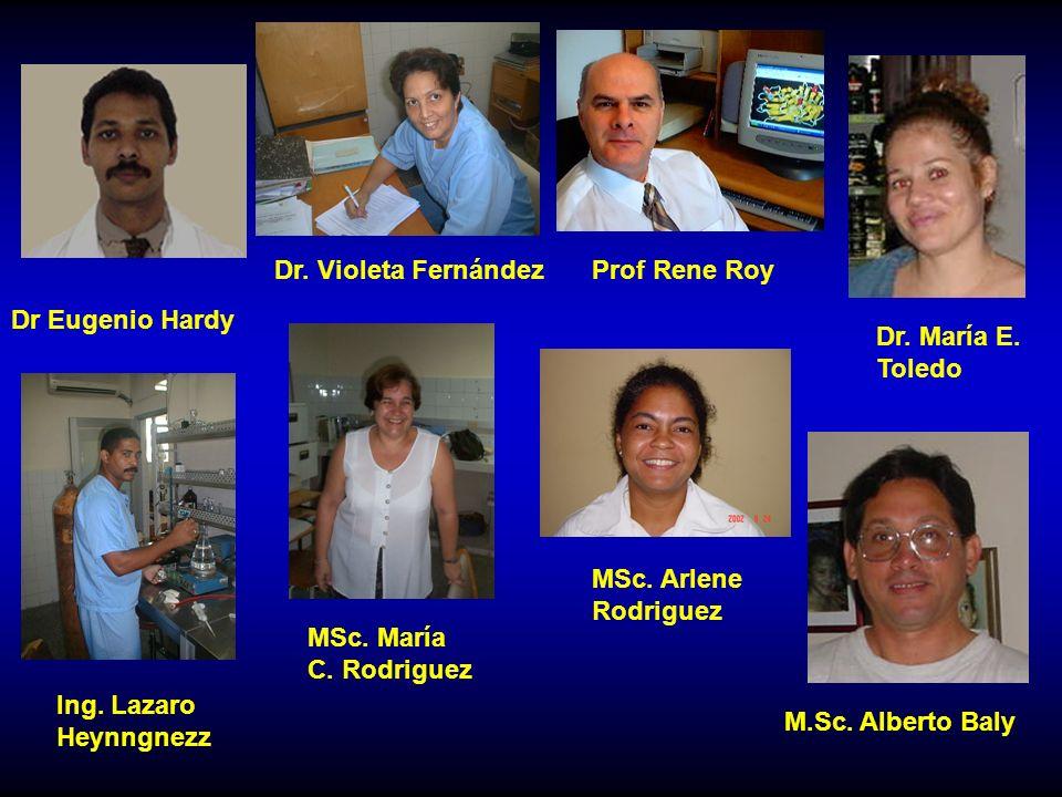 Dr.Violeta FernándezProf Rene Roy Dr. María E. Toledo M.Sc.
