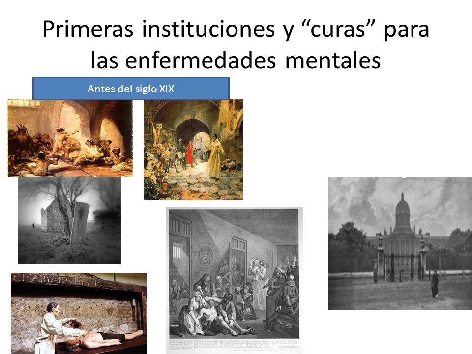 Primeras instituciones y curas para las enfermedades mentales Hospital de Santa María de Bethlehem. Primera institución para enfermos mentales en Ingl