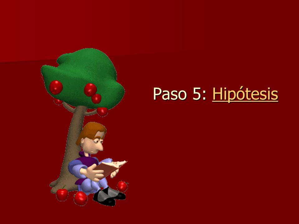 Paso 5: Hipótesis Hipótesis